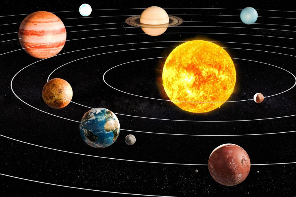 منظومه شمسی، خورشید و سیارات آن